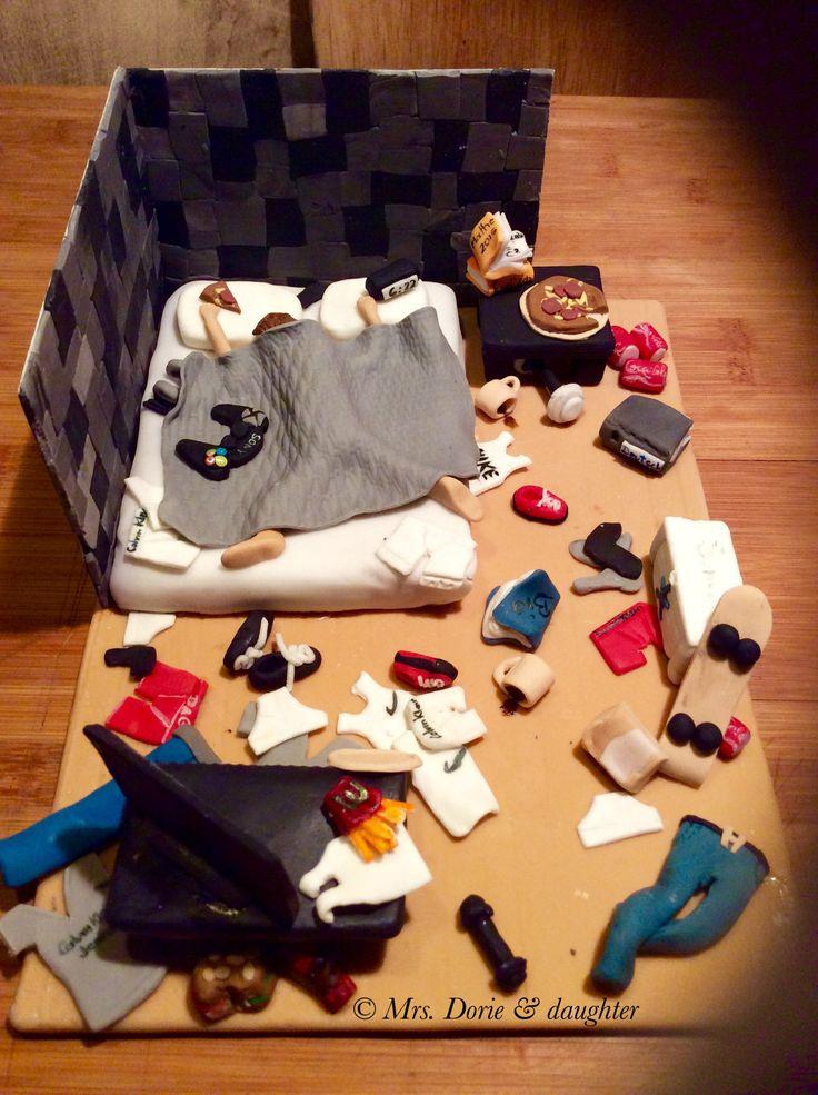 Messy bedroom cake Boy