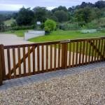 Wooden Gates - More bespoke Iroko gates www.crockettsgates.co.uk