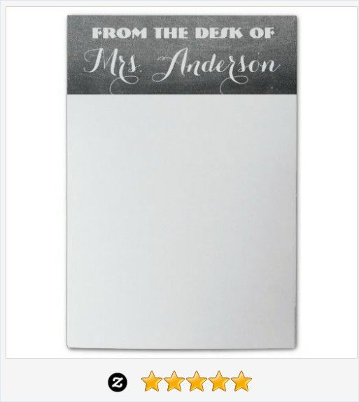 From the desk of Mrs. Anderson or your text Chalkboard Look Typography Teacher Post-it® Notes #JustSold #ThankYou :) https://www.zazzle.com/from_the_desk_chalkboard_typography_teacher_post_it_notes-256102625981339700