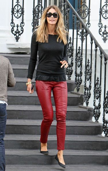 Elle MacPherson. i want red leather