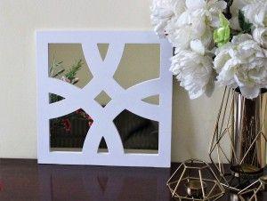 Dekoracyjny panel kwadratowy do luster IKEA - przeplatanka