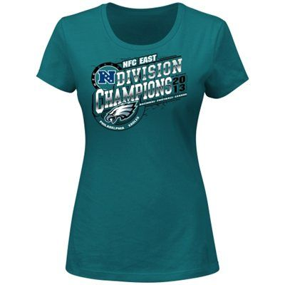 Philadelphia Eagles 2013 NFC East Division Champions Ladies T-Shirt - Midnight Green