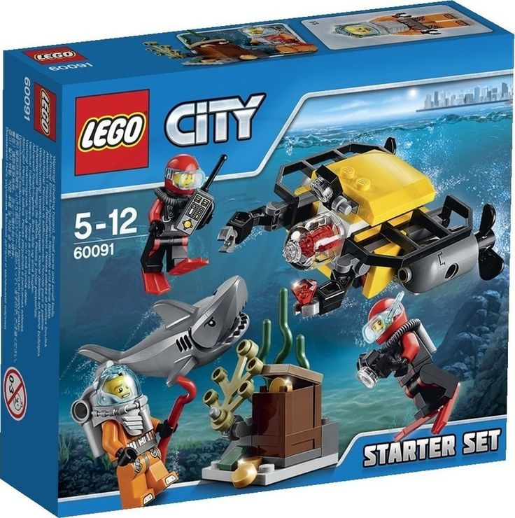 Lego City 60091 Hlubinný mořský výzkum startovací sada - 0