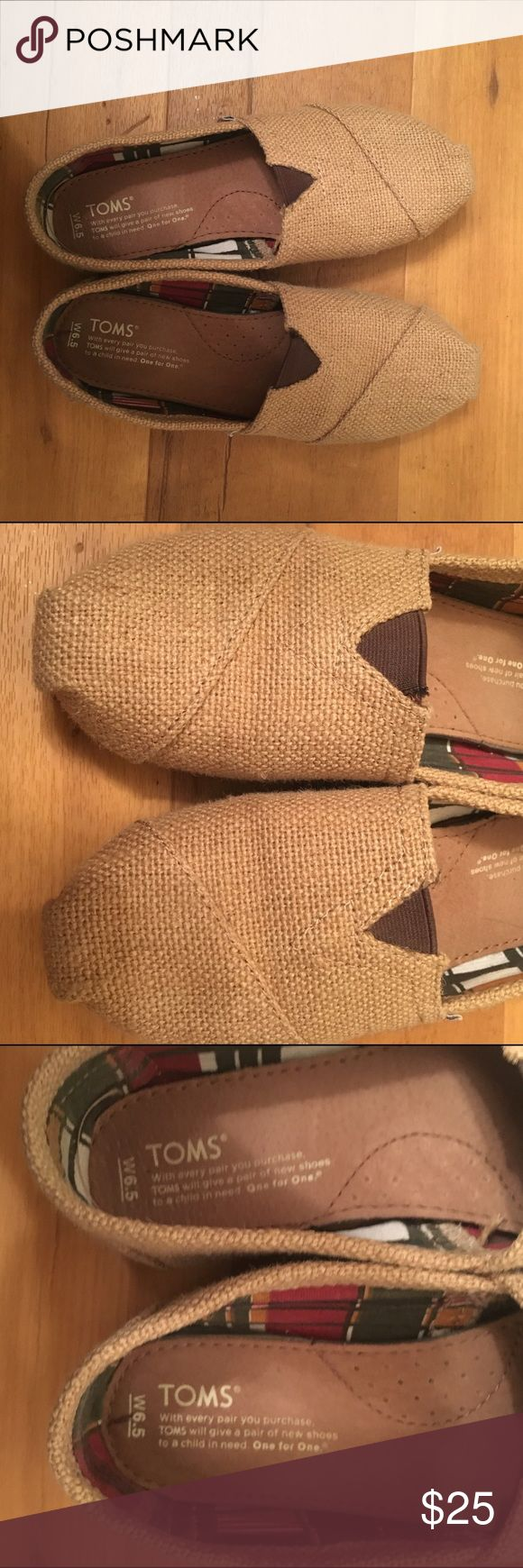 Burlap Toms Shoes Good condition | Worn fewer than 10 times | No holes TOMS Shoes Flats & Loafers