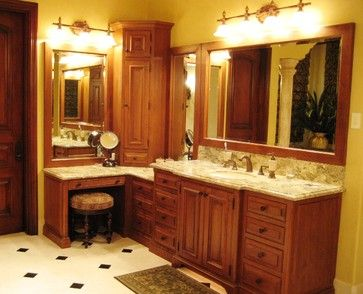 master bathroom with makeup vanity | ... bathroom design by philadelphia kitchen and bath Kevin Martin