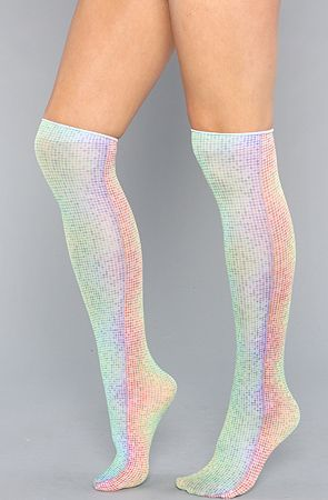 The Rainbow Dots Trouser Knee High Sock