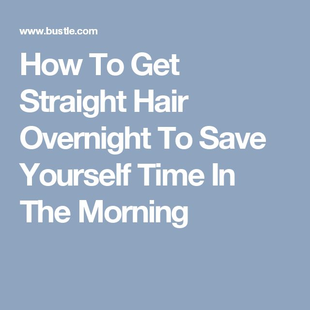 how to make straight hair curly overnight