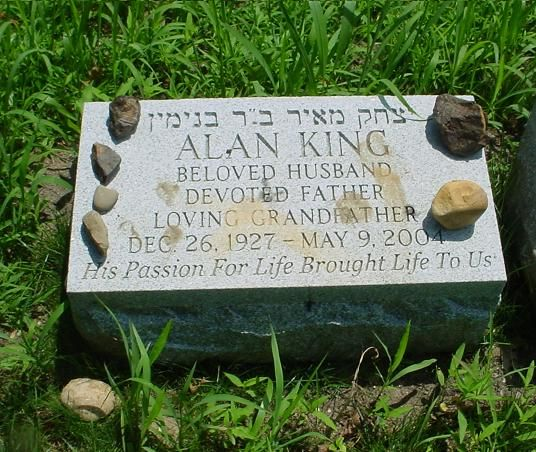 "Alan King (1927 - 2004) Comedian and actor, he had a long stand-up career that included many appearances on the ""Ed Sullivan Show"", he was the abbot of the New York Friars Club and hosted their celebrity roasts, as an actor he appeared in ""Just Tell Me What You Want"", ""Casino"" and other movies"