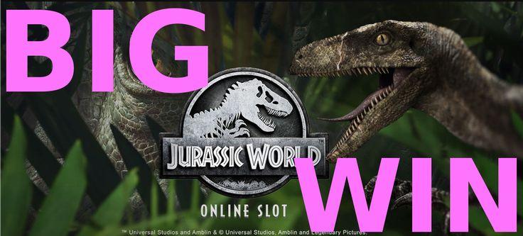 Online slot big win - Jurassic World from Microgaming