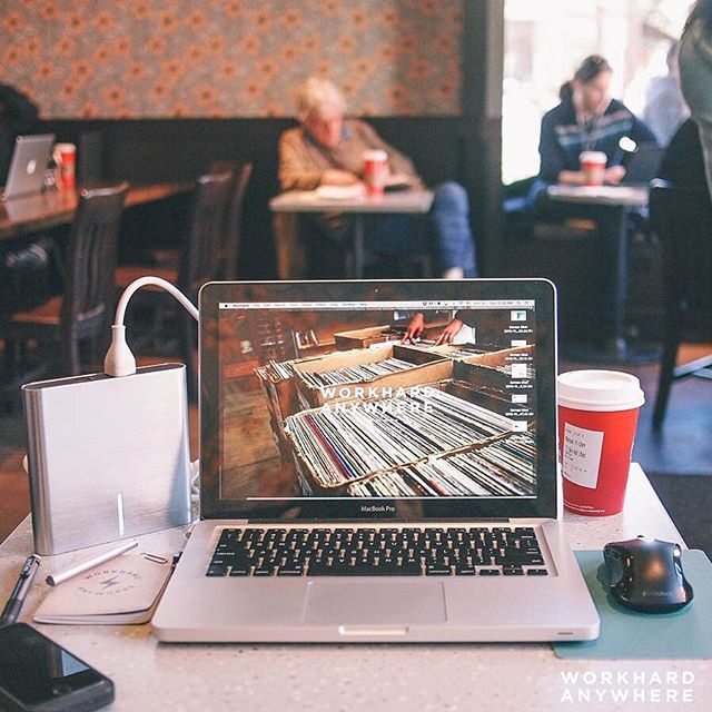 Setting up shop from Noe Valley, San Francisco. A bad laptop battery and occupied wall outlets didn't stop our co-founder, Benson, from getting some work done, thanks to external battery startup—LifePower's A2 (@lifepowr) #workhardanywhere