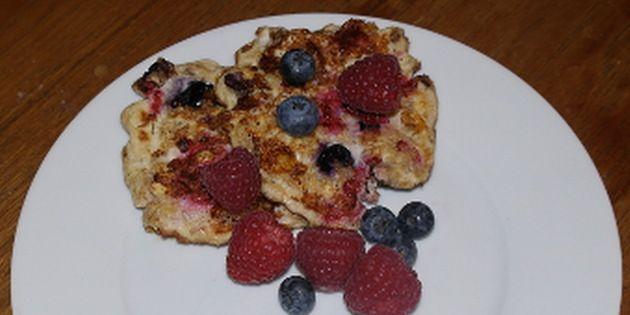 Proteinpandekager med bær