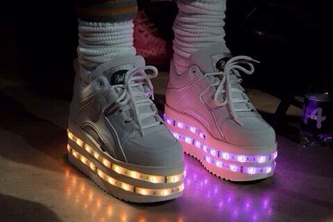 Light up Spice Girls-esque sneakers? YES!