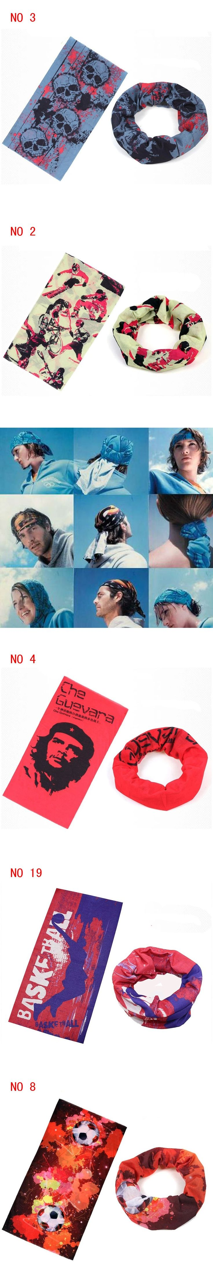 2016 Summer Unisex Seamless Multifunctional Scarf Fashion Face Mask Wrap Biker Bandanas Headwear Magic Headband