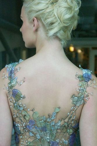 bodice made with wire and sea glass