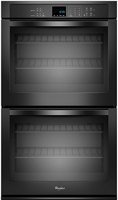 "Whirlpool 27"" Black Electric Double Wall Oven"