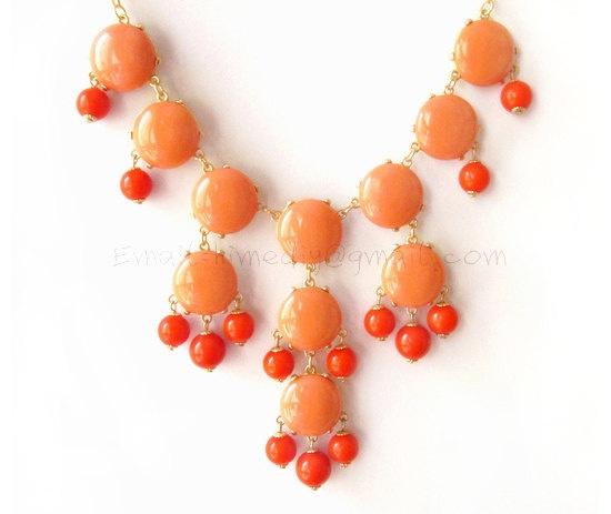 SALE  Orange B  Big Size Smooth Bubble Statement by himediy, $19.00