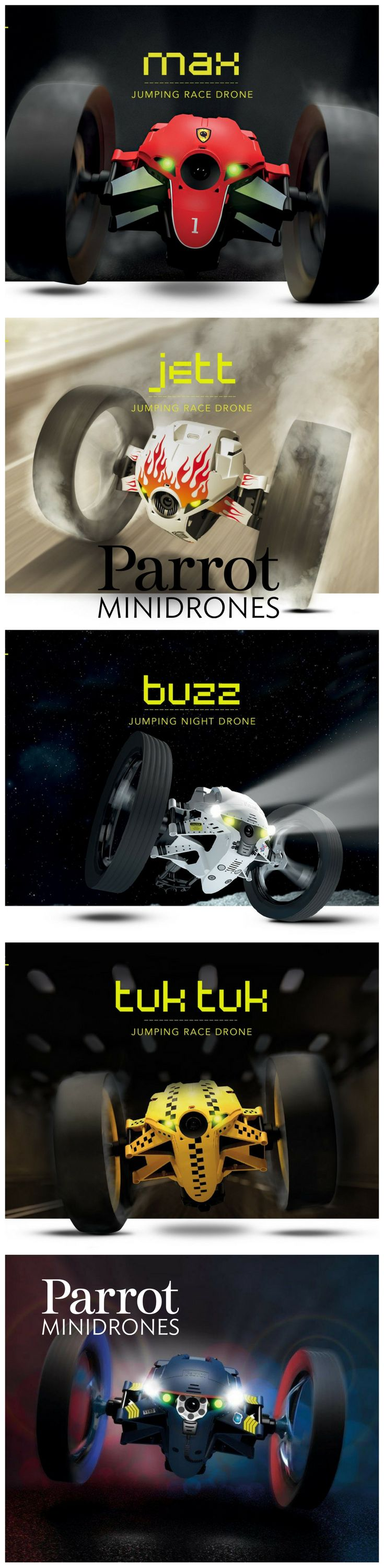 Parrot Minidrones night -OVER TO YOU!  The next game is right before your eyes! Minidrones weave in and out to find their way anywhere, from the playground to open-plan offices. Equipped with the best technology, they can race, perform aerobatics, shoot missiles, and do much more. The only limit is your imagination!