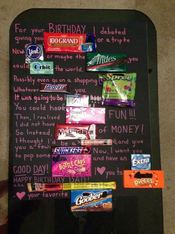 Candy Poster Birthday Card for Father, http://hative.com/candy-bar-poster-ideas-with-clever-sayings/