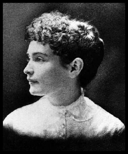 Anne Sullivan, age 20, just before she began work with Helen. :)