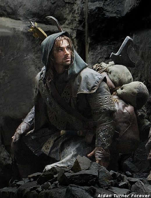 Aidan Turner as Kili ~ The Hobbit. Still miss him as Mitchell on BBC's Being Human.