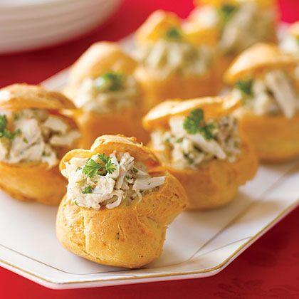 Chicken Salad Puffs Recipe — Dishmaps