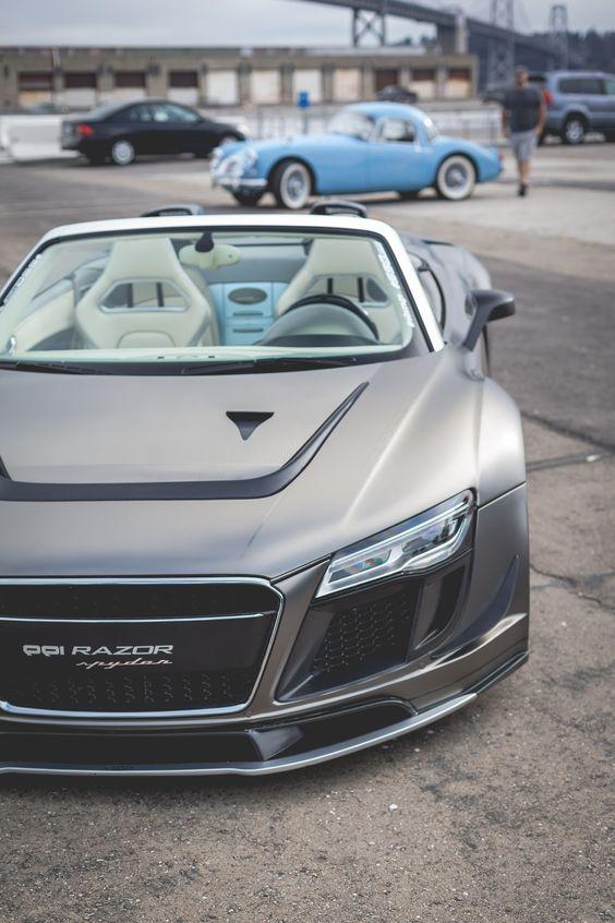 Audi PPI Razor GTR R8. Nah the MGA in the background..