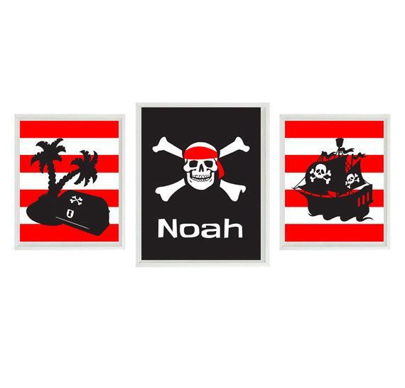 Hey, I found this really awesome Etsy listing at https://www.etsy.com/listing/168966744/pirate-wall-art-black-red-stripes-skull
