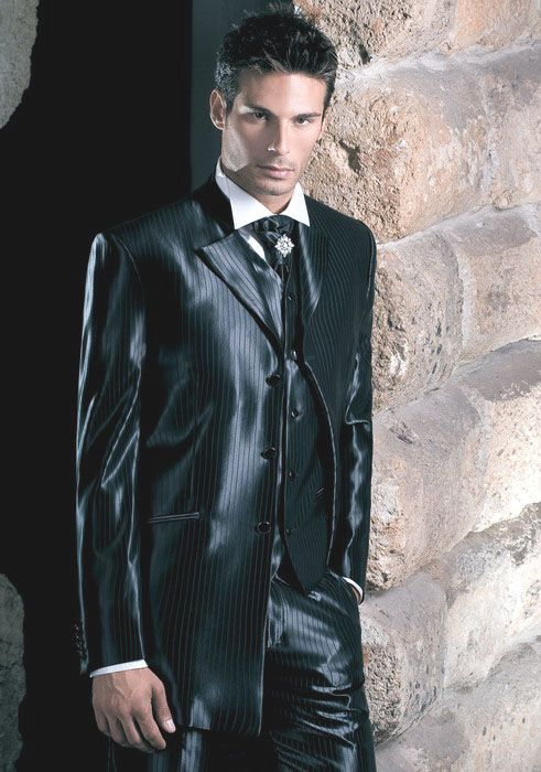 Stripped satin suit | Male Satin Clothing | Pinterest ...