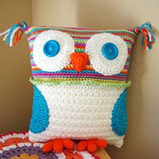 What's on my hook: Crochet Owl Pillow (and a sorta tutorial)