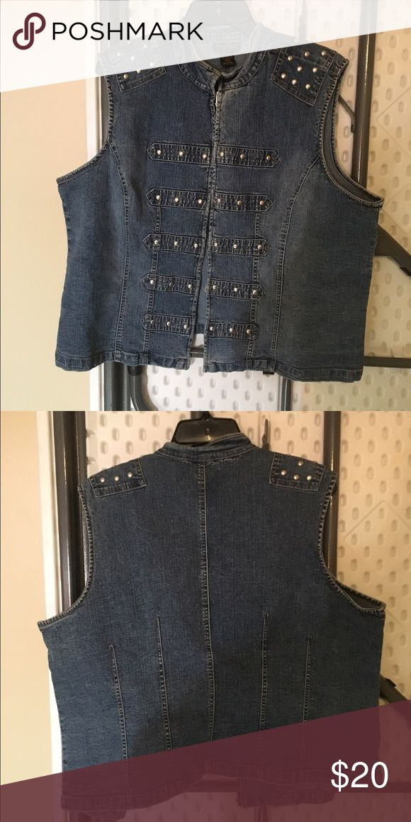 Blue jean vest Studded blue Jean vest Ashley Stewart Other