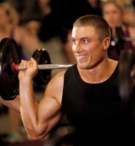 """the swedish """"oak"""" Petter from Les Mills PUMP - He smile certainly keeps me motivated."""