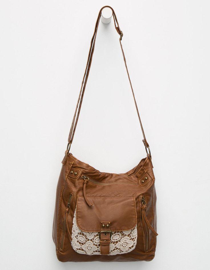 T-SHIRT & JEANS Crochet Pocket Crossbody Bag 236453400 | Handbags