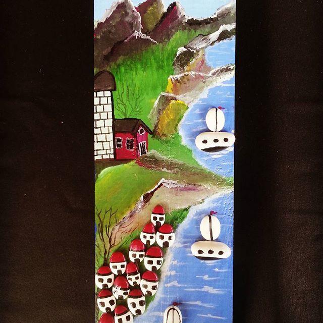 #tasveagacindonusumu #handmade #tas #ağaç #stone #home #funny #homedecor #tablo #pebbleart