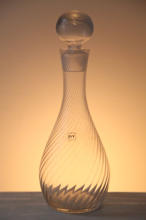 Selezione IVV Mouth Blown Clear Decanter
