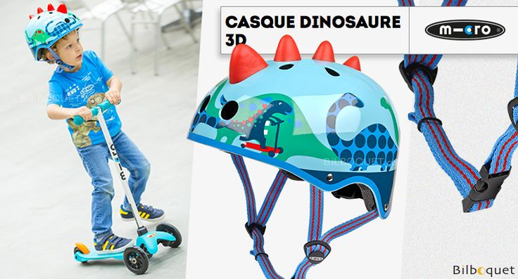 Casque enfant Dinosaure 3D - Taille S Micro Mobility Scooters & Kickboards