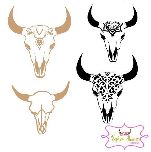 Skull Decal. Shop Sophie Breanna Designs on Etsy. EtsyShop Custom Vinyl, Vinyl Decal, Vinyl Sticker, Steer Skull, Girly,, YETI Skin,…