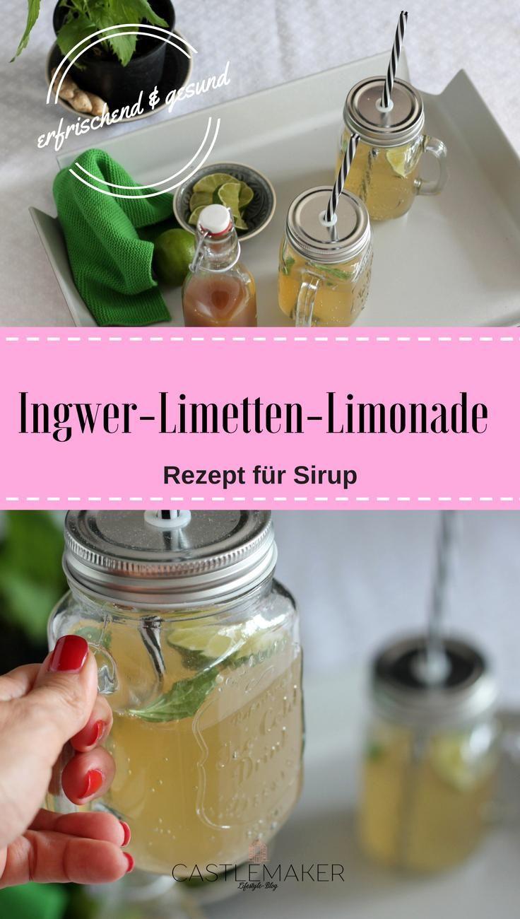 Ingwer ist gesund und zusammen mit Limette und Minze ergibt sich daraus ein köstliches Erfrischungsgetränk. Hier habe ich das Rezept für Ingwer-Limetten-Sirup für Euch, mit welchem Ihr ganz schnell eine frische Limonade zubereiten könnt. Die Ingwerlimonade ist gesund und lecker.