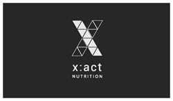 xact NUTRITION logo designed in Montreal by mookieyams