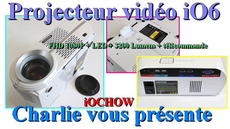 Projecteur vidéo iOCHOW iO6 1080P + LED + 3200 Lumens de puissance et té...