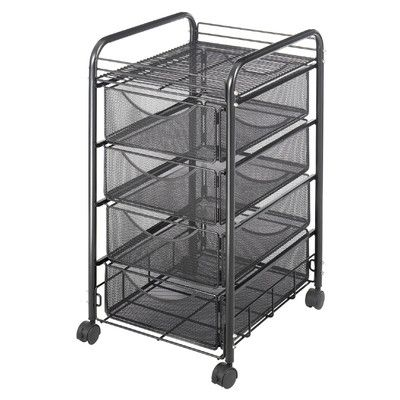 Safco Products Mesh Mobile File Cart in Black | Wayfair Supply