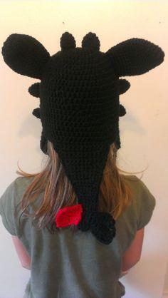 Crochet Dragon Hat Inspired by Toothless door TheCrochetDisplay
