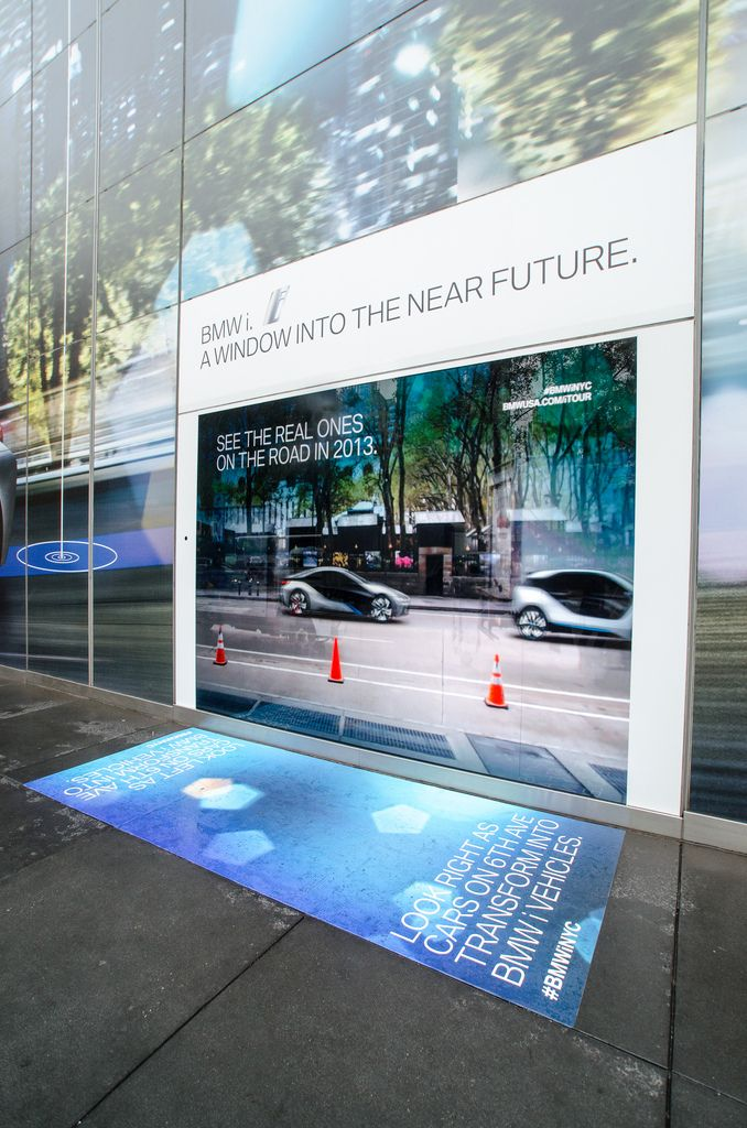 INTERACTIVE WINDOW  TRANSFORMS LIVE STREET  TRAFFIC INTO BMW CONCEPT  CARS [VIDEO]