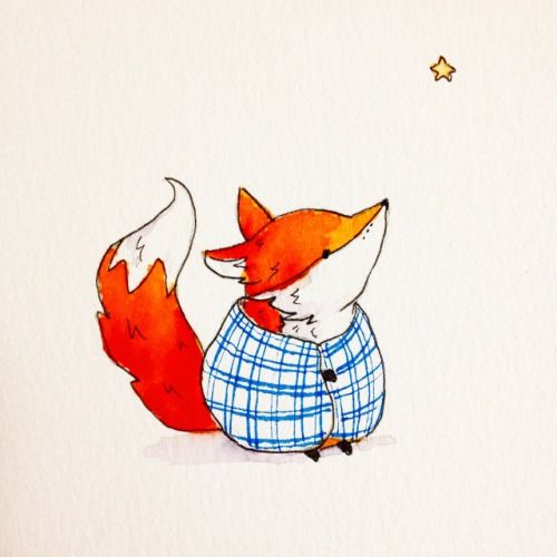 Little fox and I are getting ready for the two day Vintage and Made fair in Des Moines Iowa this weekend! Come say hi! #illustration #watercolor #art #cute #fox #sketch #drawing #kids