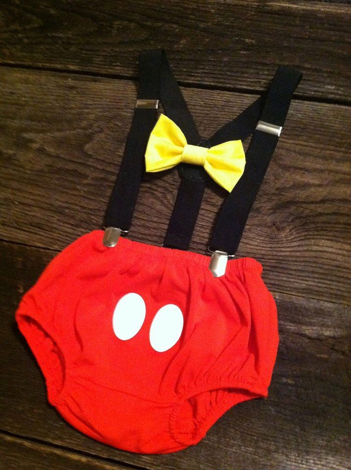 Mickey Mouse Birthday Outfit Cake Smash Outfit Black Suspenders and Red Mickie Bloomers Diaper Cover Mickey Photo Prop Baby Boy by CraftsandVinyl on Etsy https://www.etsy.com/listing/242574733/mickey-mouse-birthday-outfit-cake-smash