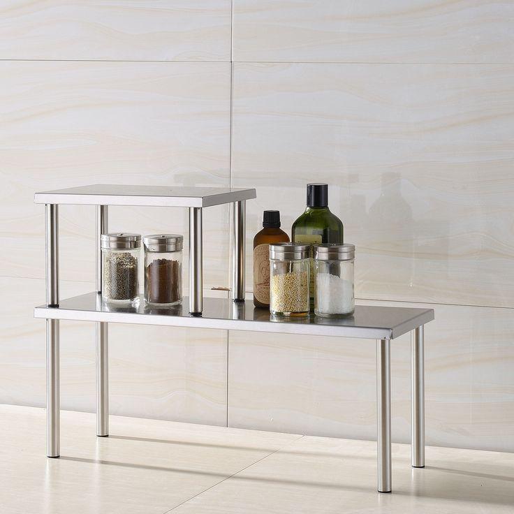 Zipcode™ Design Erin 2 Piece Stainless Steel Square Accent Storage Shelf Set