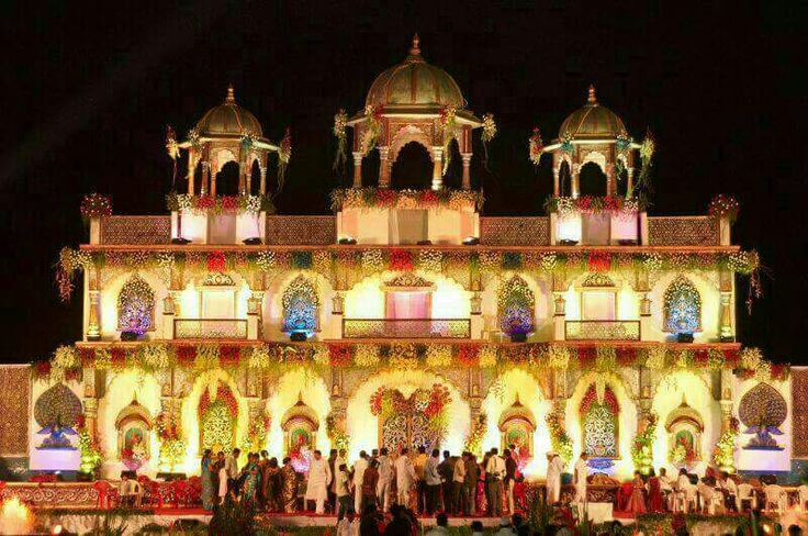 #The shining mahal prepared for the occasion #bookeventz #wedding #stage #decor #decorations #stagedecor #marriage