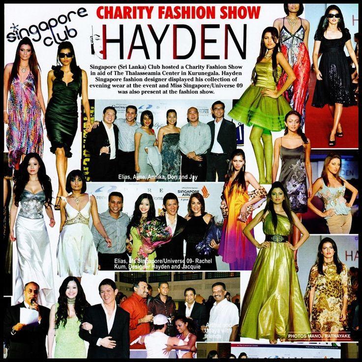 #tbt #ThrowBackThursday #CharityShow in #SriLanka 2009 with Hayden Ng, HAYDEN BOUTIQUE and Rachel Kum.  READ - http://www.haydensingapore.com/album/dec-2009-adoh-sri-lanka-magazine-write-up