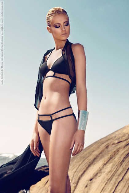 Nadia Serlidou for Moeva campaign (Spring-Summer 2013) photo shoot