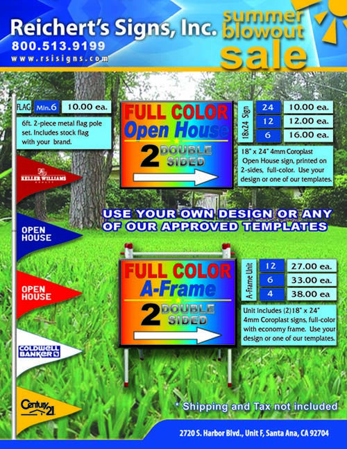 Coroplast sign, printed on 2-sides, full color.  Use your own design or one of our templates.  Great tool for contractors and builders....http://www.rsisigns.com/custom-yard-signs-cheap
