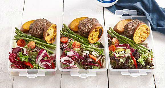 Hambúrgueres de Peru com Batata Doce... esta rápida e saudável refeição para o teu próximo almoço Peru e batata doce, uma combinação perfeita para não falhares as tuas macros.